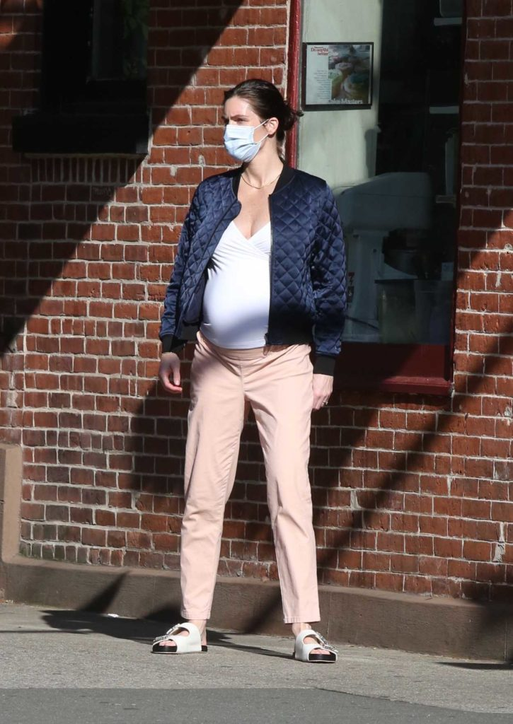Hilary Rhoda in a Protective Mask