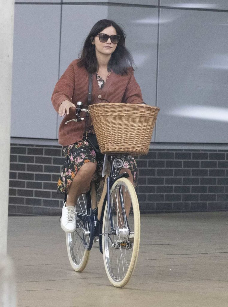 Jenna Coleman in a White Sneakers