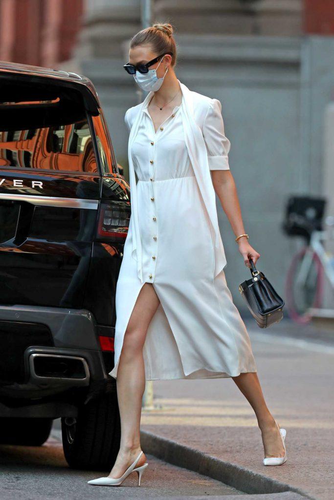 Karlie Kloss in a White Dress