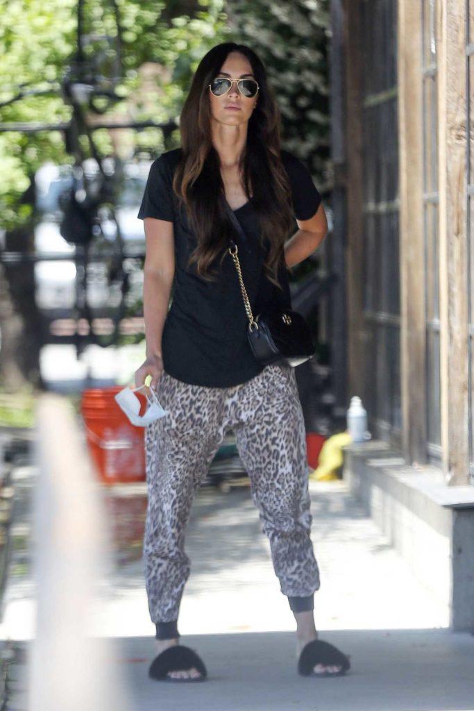 Megan Fox in an Animal Print Sweatpants