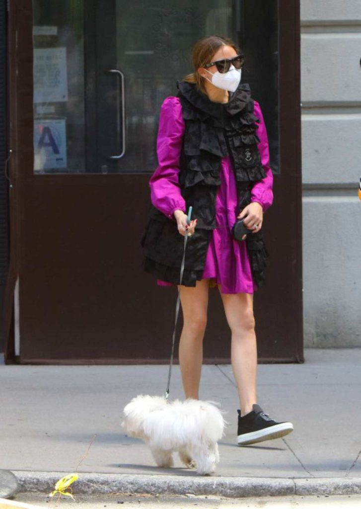 Olivia Palermo in a Protective Mask