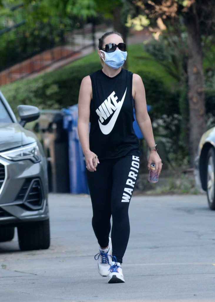 Olivia Wilde in a Protective Mask