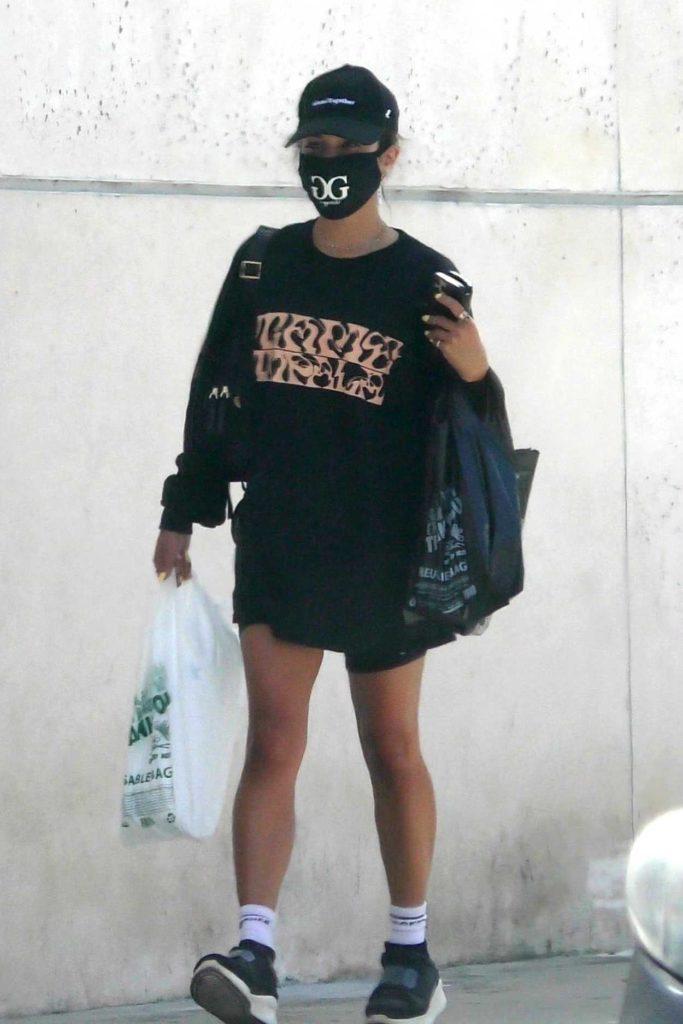Vanessa Hudgens in a Black Cap