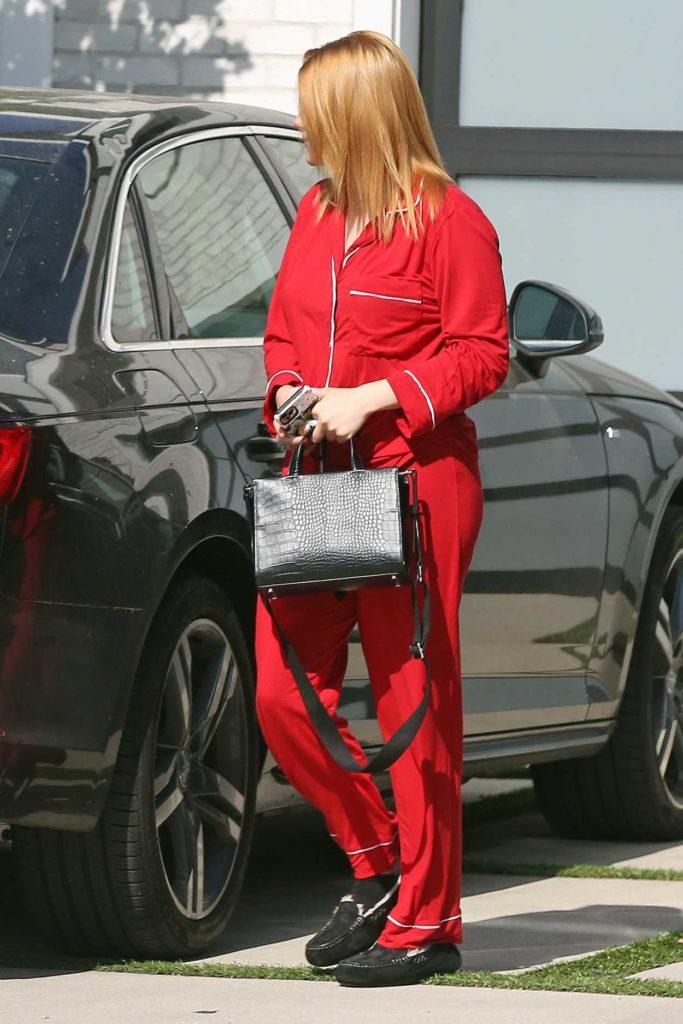 Ariel Winter in a Red Pyjamas