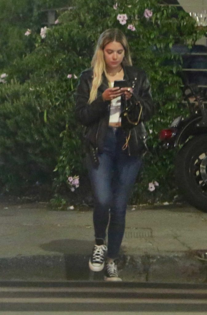 Ashley Benson in a Converse Trainers