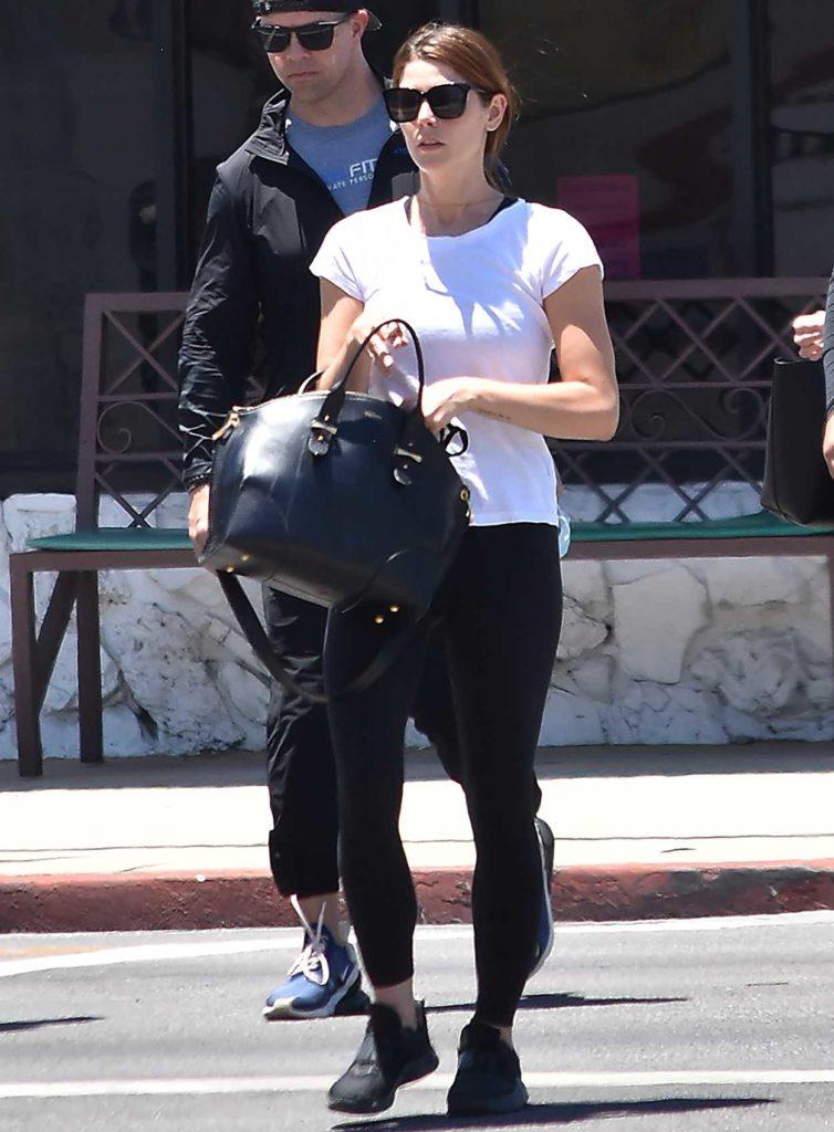 Ashley Greene in a White T-Shirt