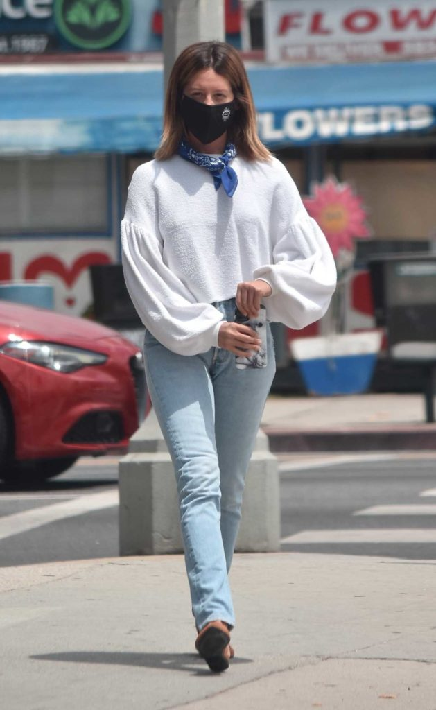 Ashley Tisdale in a Blue Jeans