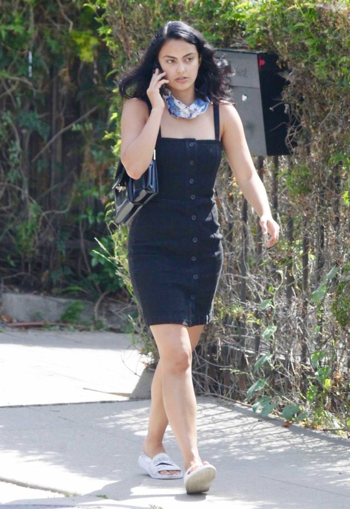 Camila Mendes in a Black Dress
