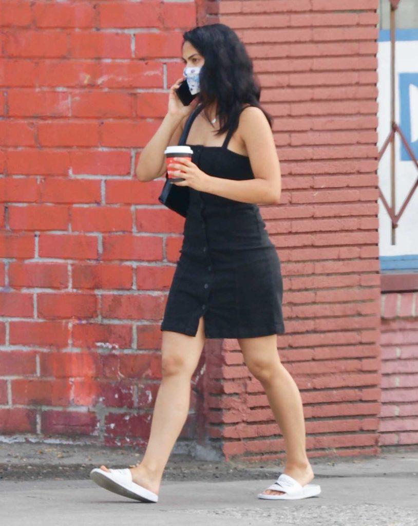 Camila Mendes in a Black Dress