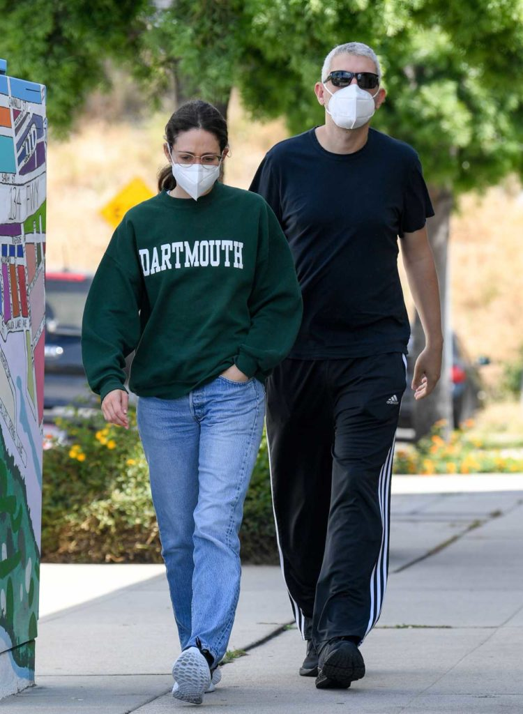 Emmy Rossum in a Protective Mask