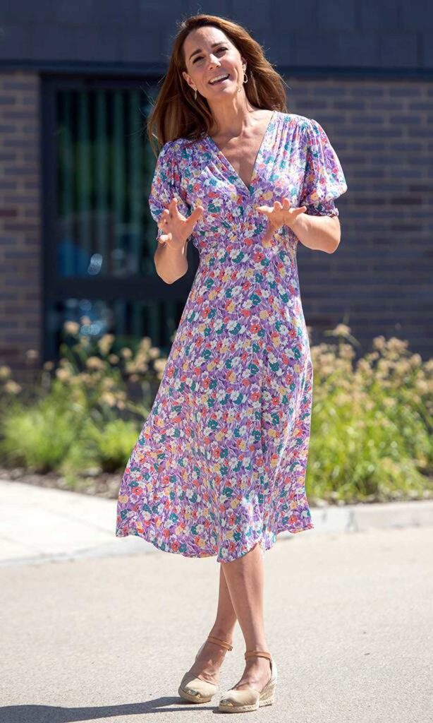 Kate Middleton in a Floral Print Dress