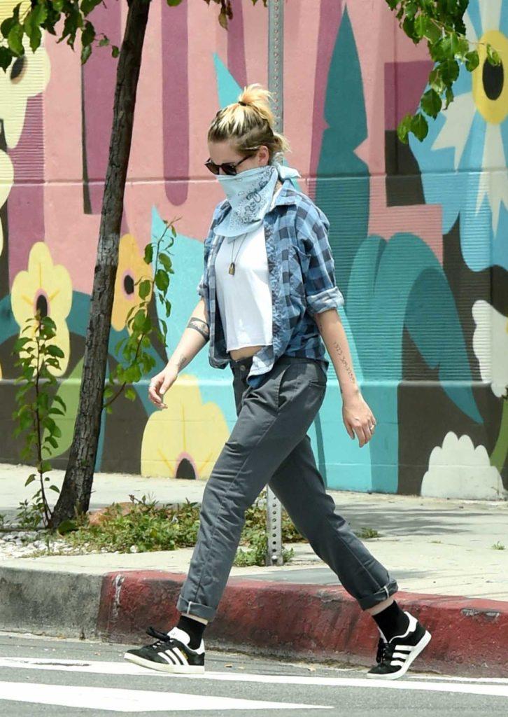 Kristen Stewart in a Plaid Shirt