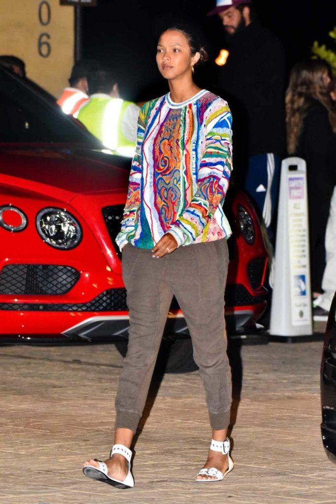 Lais Ribeiro in a Full Colour Sweatshirt