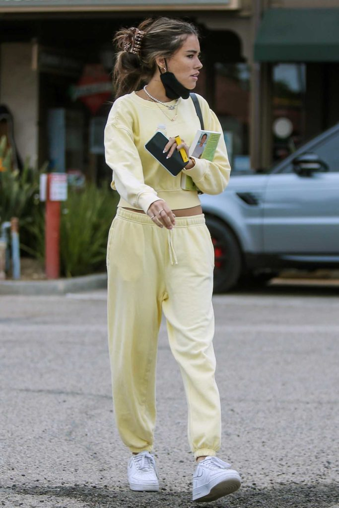 Madison Beer in a Yellow Sweatsuit