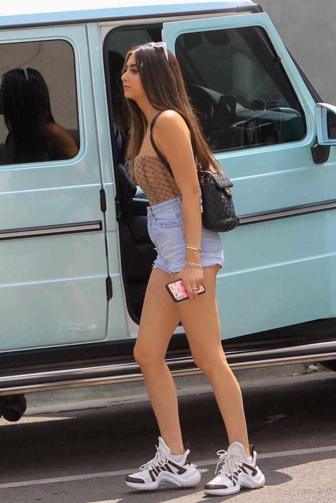 Nicolette Gray in a Blue Daisy Duke Shorts