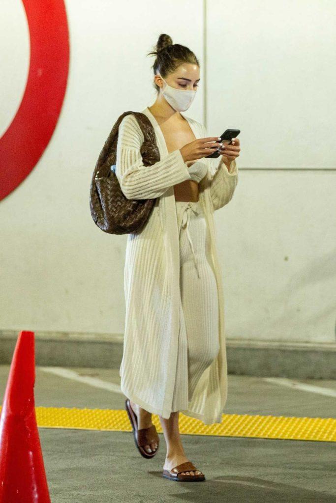 Olivia Culpo in a Protective Mask