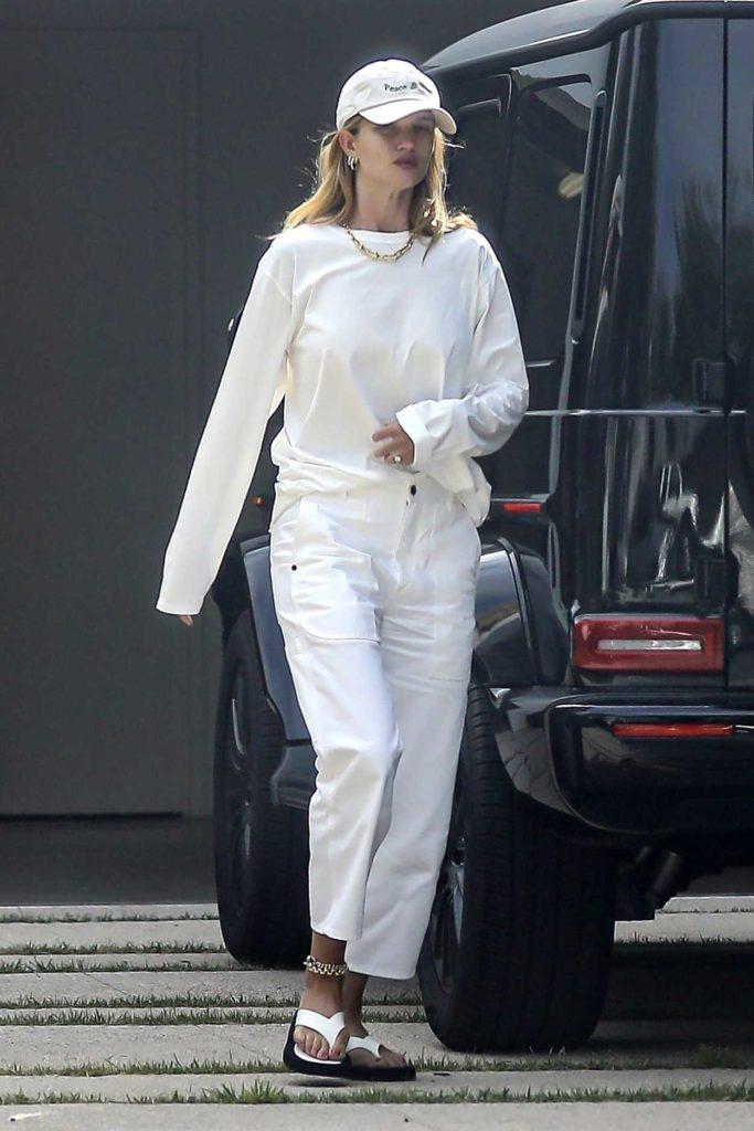 Rosie Huntington-Whiteley in a White Cap