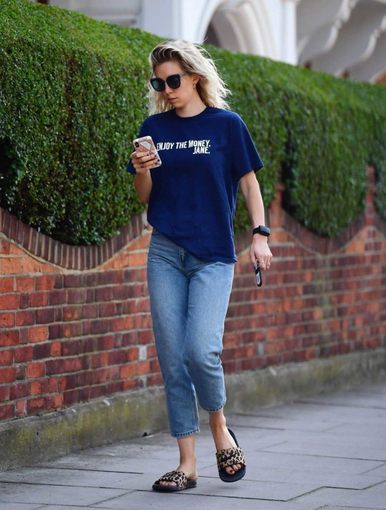 Vanessa Kirby in a Blue Tee