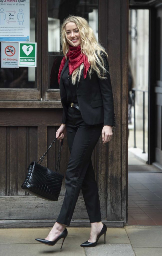 Amber Heard in a Black Blazer