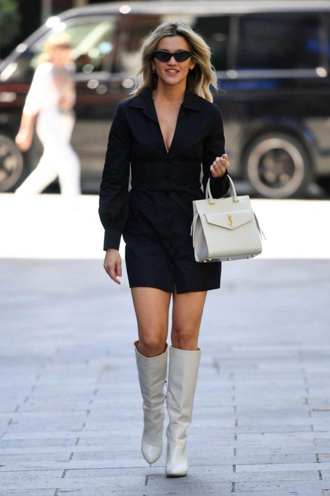 Ashley Roberts in a Black Dress