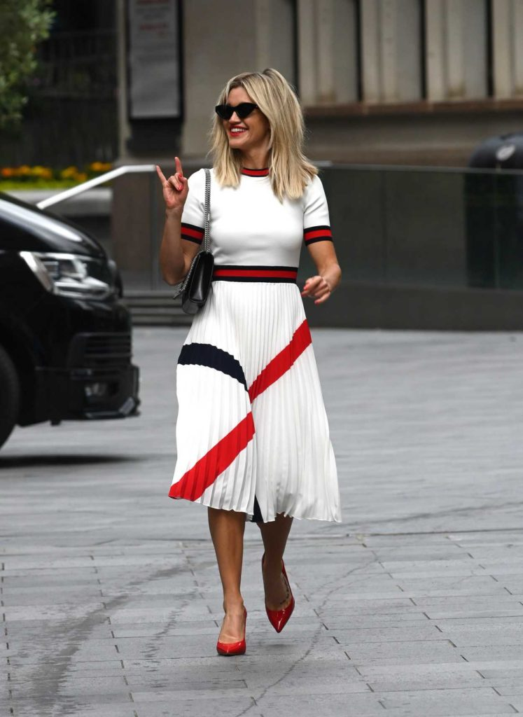 Ashley Roberts in a White Skirt
