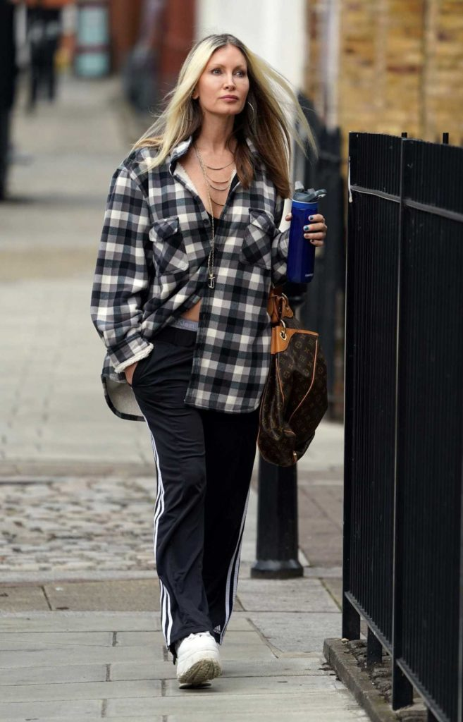 Caprice Bourret in a Plaid Shirt