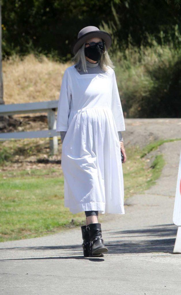Diane Keaton in a White Dress