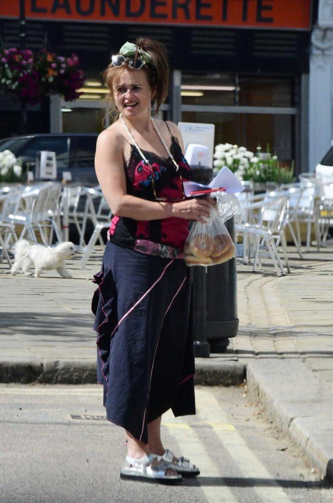 Helena Bonham Carter in a Floral Top