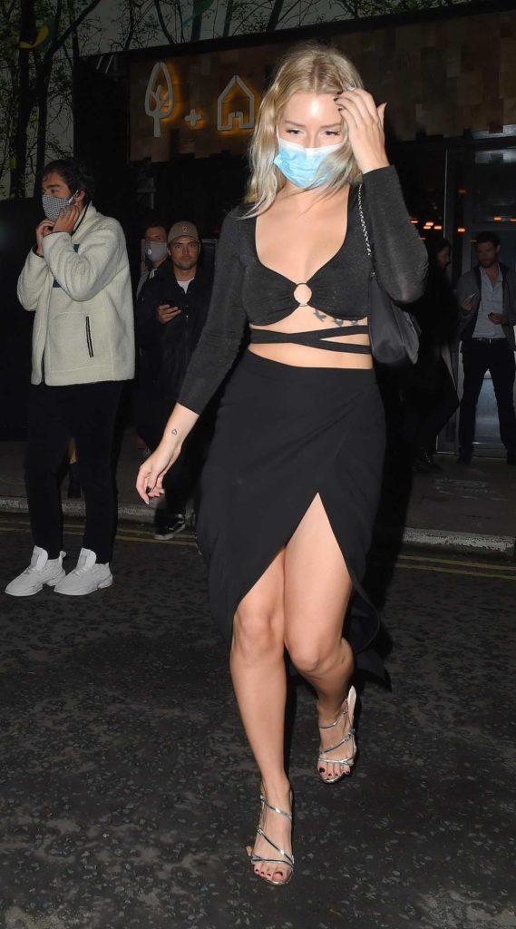 Lottie Moss in a Black Dress