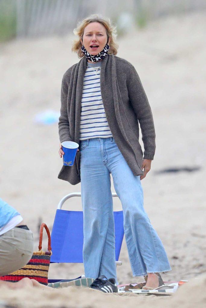 Naomi Watts in a Striped Tee