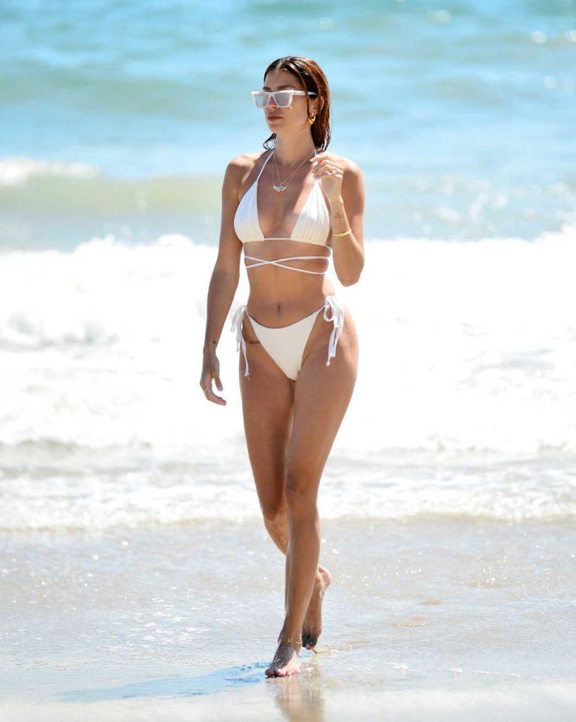 Nicole Williams in a White Bikini