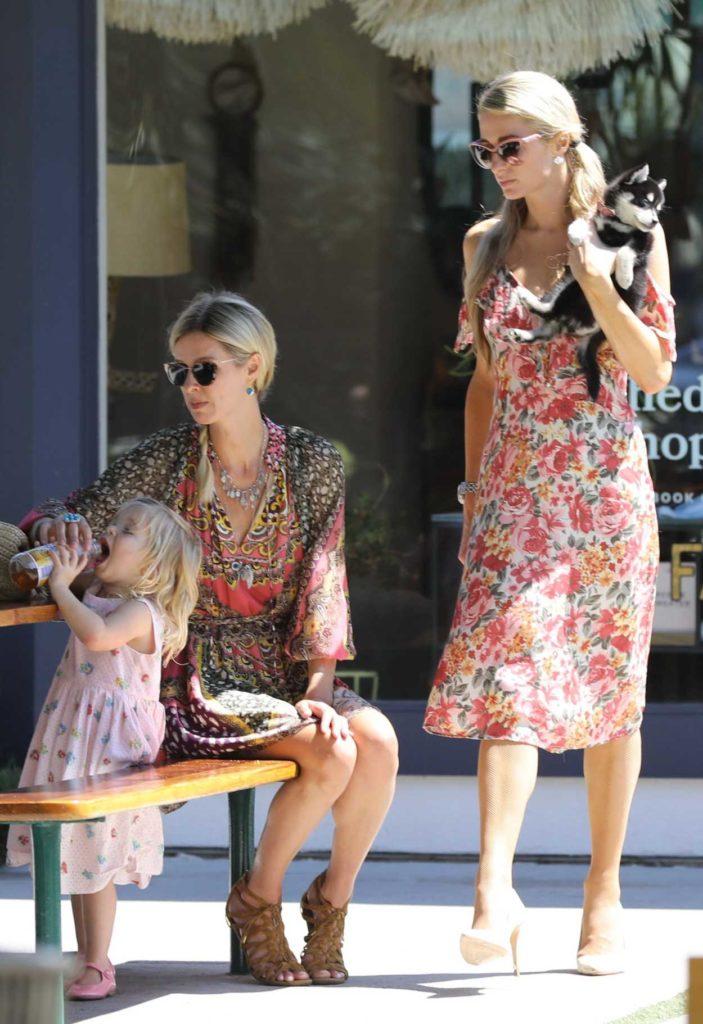 Paris Hilton in a Floral Dress