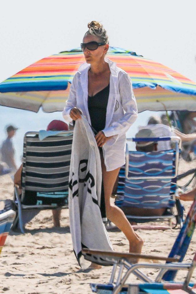 Sarah Jessica Parker in a Black Swimsuit