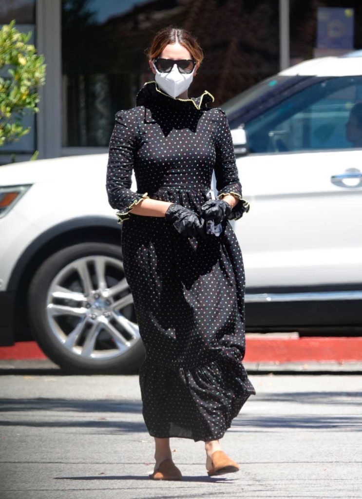 Ashley Tisdale in a Protective Mask