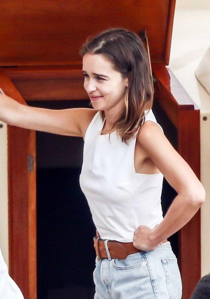Emilia Clarke in a White Top