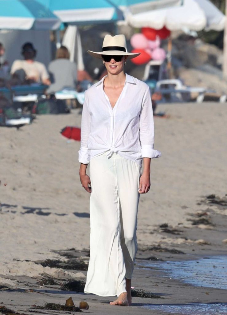 Karlie Kloss in a White Shirt