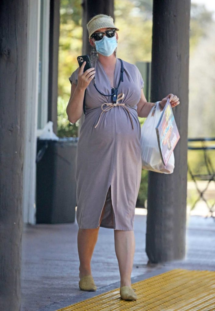 Katy Perry in a Protective Mask