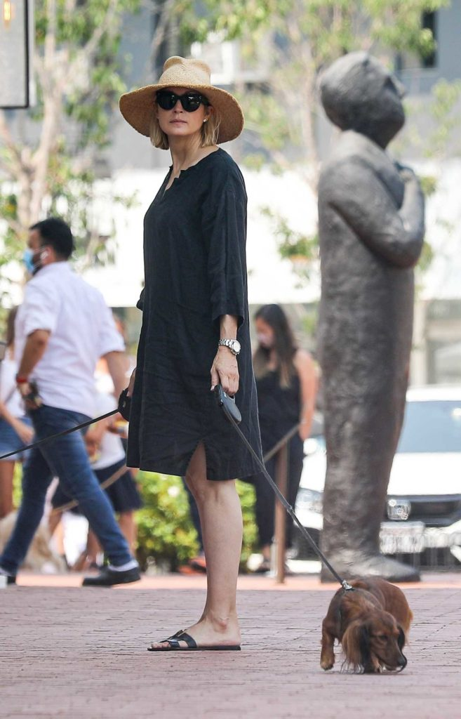 Kelly Rutherford in a Black Dress
