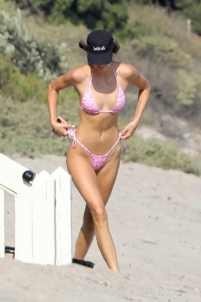 Kendall Jenner in a Pink Bikini
