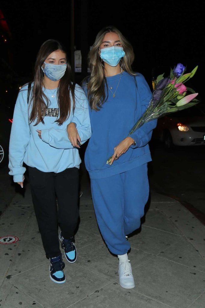 Madison Beer in a Blue Sweatsuit