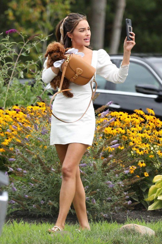 Olivia Culpo in a White Dress