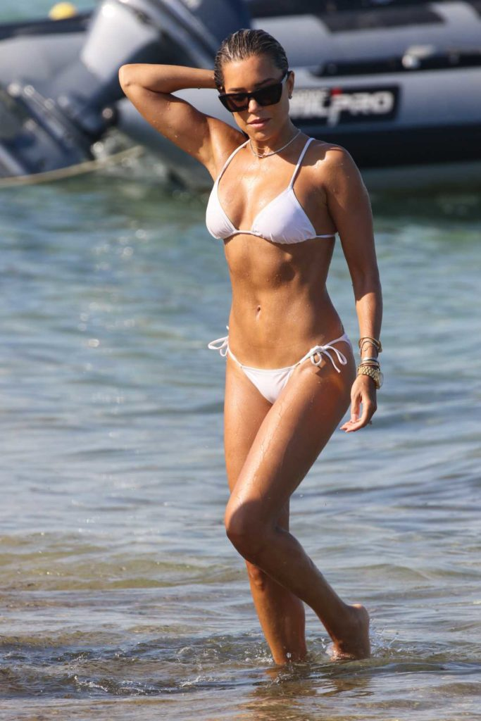 Sylvie Meis in a White Bikini