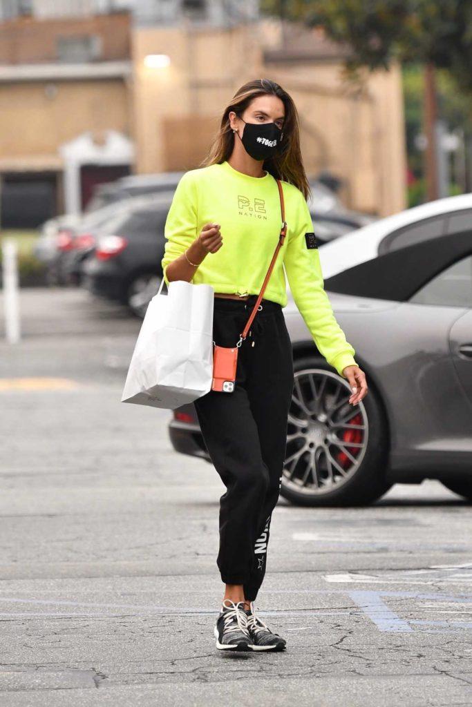 Alessandra Ambrosio in a Black Sweatpants
