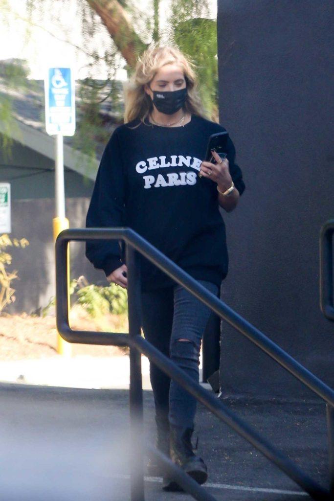Ashley Benson in a Black Sweatshirt