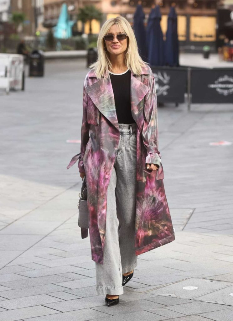 Ashley Roberts in a Full Colour Trench Coat