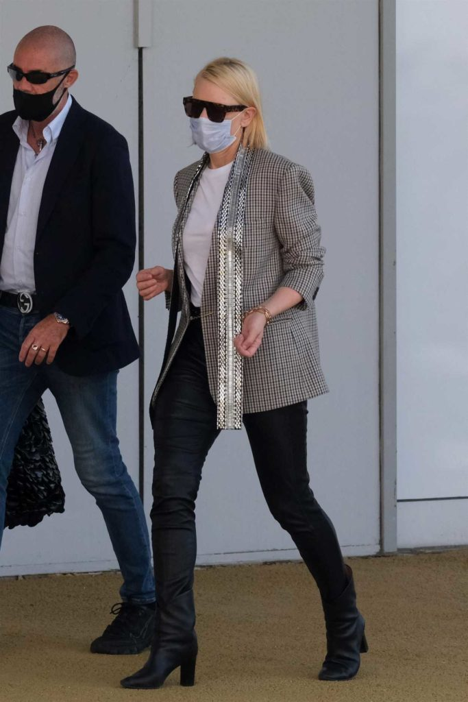 Cate Blanchett in a Protective Mask