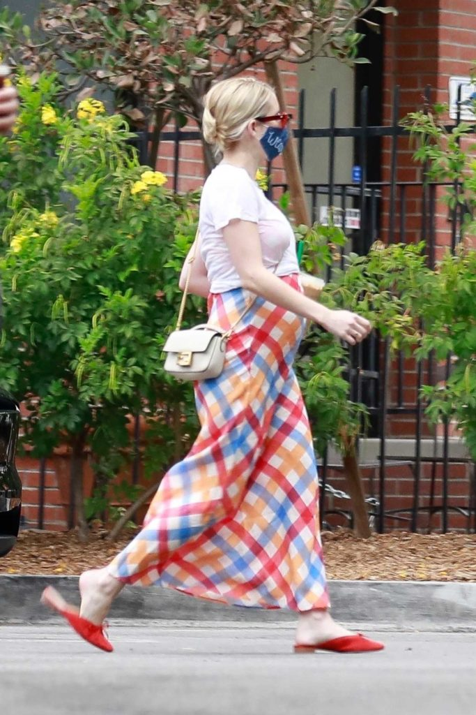 Emma Roberts in a Colorful Skirt
