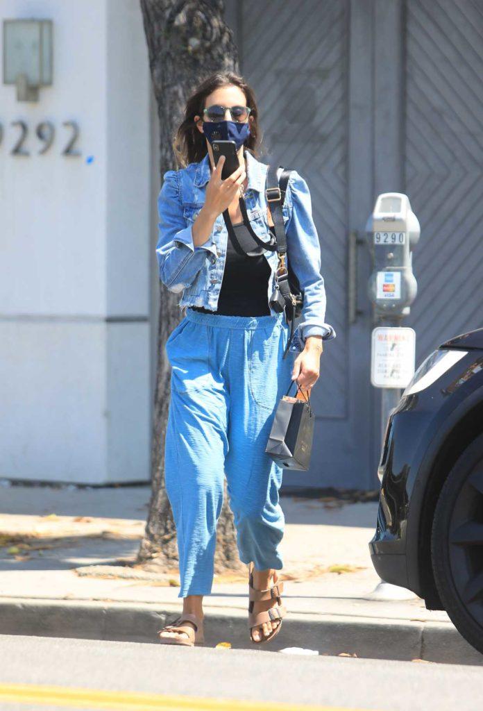 Jessica Alba in a Blue Denim Jacket