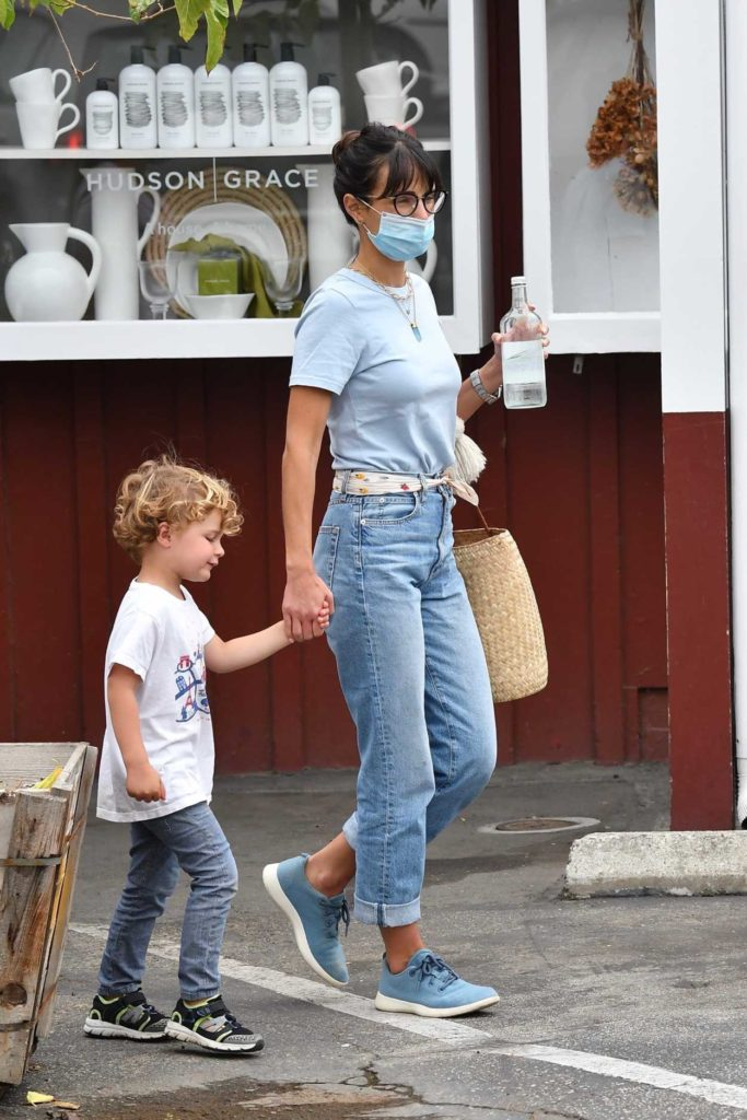 Jordana Brewster in a Protective Mask