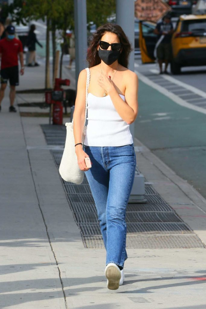 Katie Holmes in a White Top